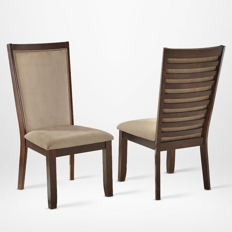 Steve Silver Brianna Side Chair in Dark Brown Cherry & Camel