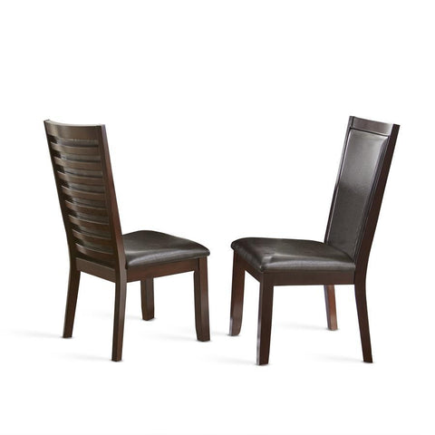Steve Silver Brianna Side Chair in Dark Brown Cherry