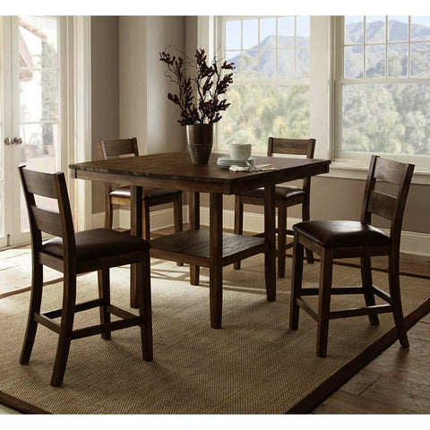 Steve Silver Cambrey 5 Piece Counter Table Set in Rustic Honey