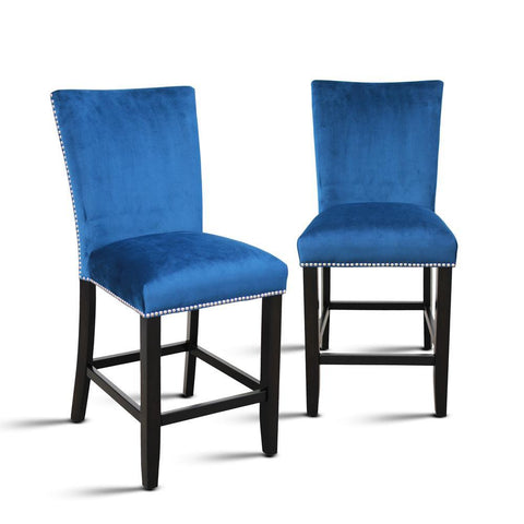 Steve Silver Camila Blue Velvet Counter Chair