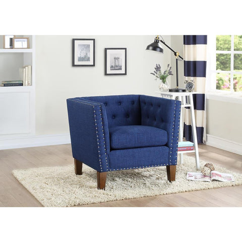Steve Silver Campbell Accent Chair In Blue