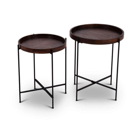 Steve Silver Capri Round Accent Tables - set of 2