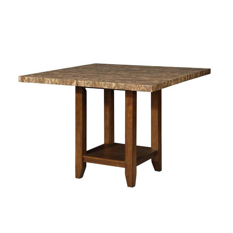 Steve Silver Cavett Square Counter Table in Warm Cherry