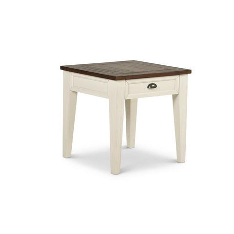 Steve Silver Cayla End Table in Dark Oak & White