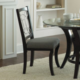 Steve Silver Cayman Side Chair w/ Decorative Metal Scroll Seat Back