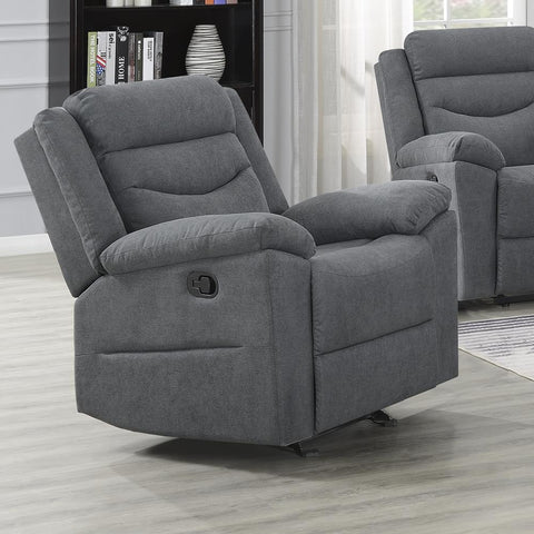 Steve Silver Chenango Glider Recliner Chair - Dark Grey