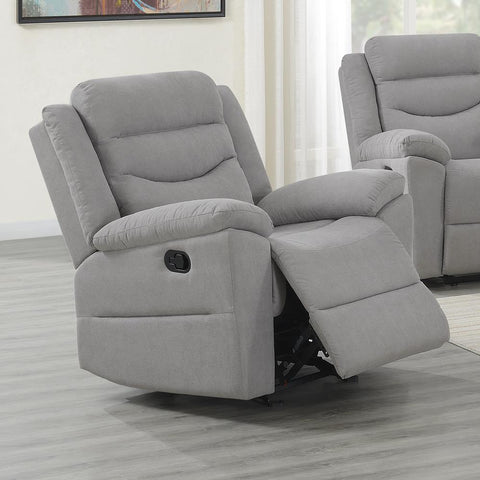 Steve Silver Chenango Glider Recliner Chair - Light Grey