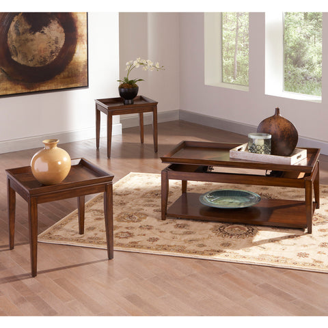 Steve Silver Clemson 3 Piece Lift-Top Coffee Table Set in Cherry