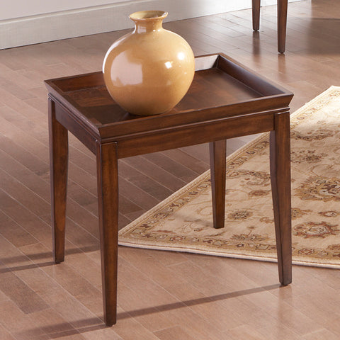 Steve Silver Clemson Square End Table in Cherry