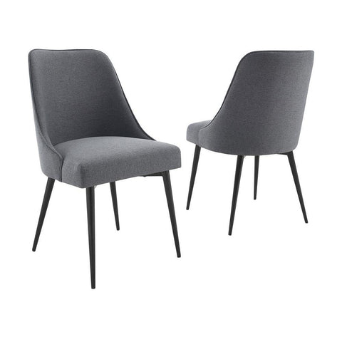 Steve Silver Colfax Side Chair Charcoal