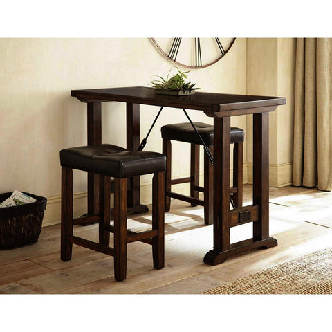 Steve Silver Colin 3 Piece Counter Dining Set in Mocha