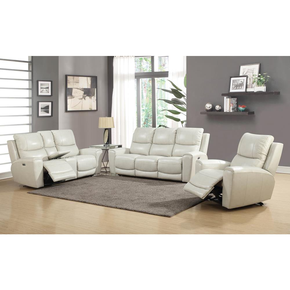 Steve Silver Conan 3 Piece Reclining Sectional In Graphite Grey