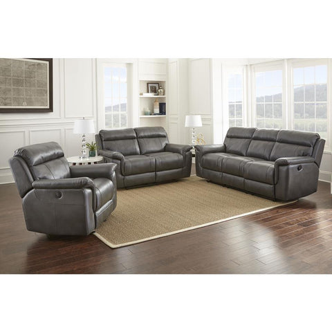Steve Silver Dakota 3 Piece Reclining Living Room Set in Grey