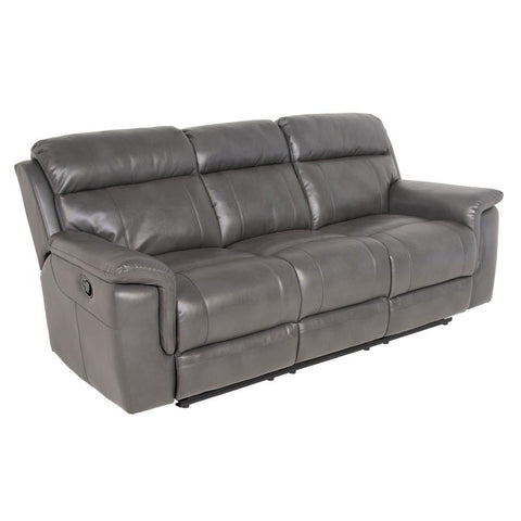 Steve Silver Dakota Recliner Sofa in Grey