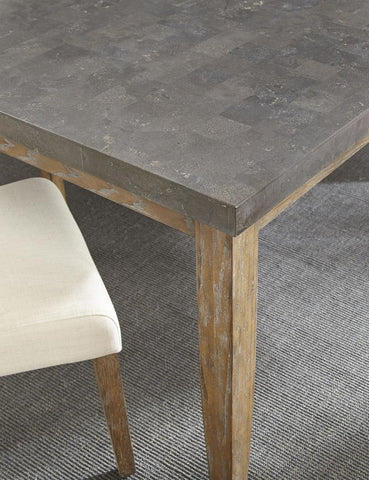 Steve Silver Debby 42 Inch Bluestone Dining Table