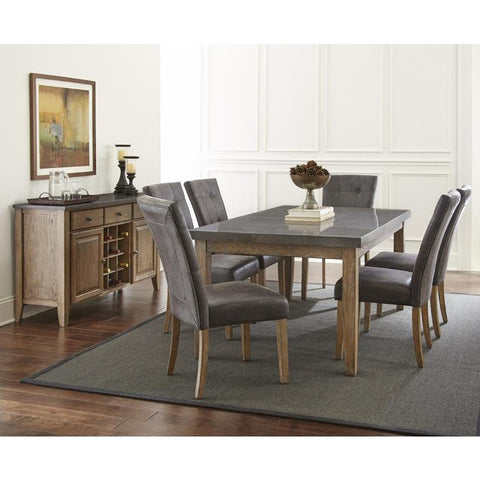 Steve Silver Debby 8 Piece 42 Inch Dining Room Set w/Grey Chairs