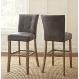 Steve Silver Debby Bar Chair in Grey - Set of 2
