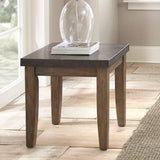Steve Silver Debby Bluestone End Table in Driftwood