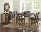 Steve Silver Debby 8 Piece 54 Inch Counter Height Set w/Grey Chairs