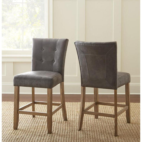Steve Silver Debby Counter Chair in Grey - Set of 2