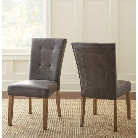 Steve Silver Debby Side Chair in Grey - Set of 2