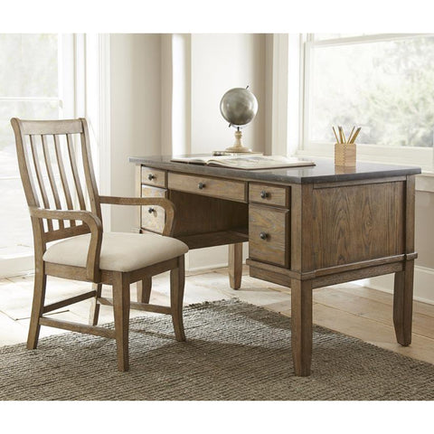 Steve Silver Debby Writing Desk w/Arm Chair in Driftwood