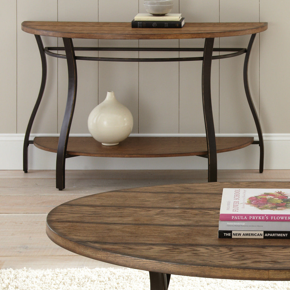 Swell Steve Silver Denise Half Moon Sofa Table In Light Oak Gmtry Best Dining Table And Chair Ideas Images Gmtryco