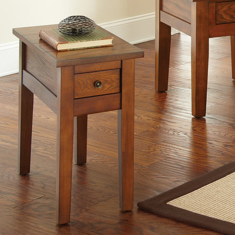 Steve Silver Desoto Chairside End Table in Dark Oak
