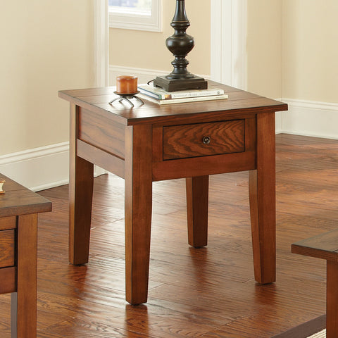 Steve Silver Desoto End Table in Dark Oak