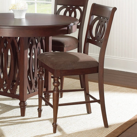 Steve Silver Dolly Counter Chair in Medium Brown Cherry