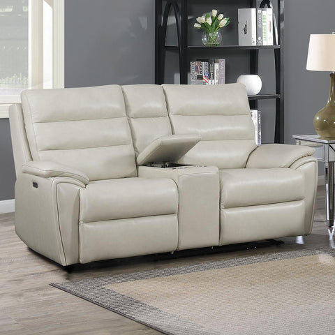 Steve Silver Duval Power Console Loveseat - Ivory