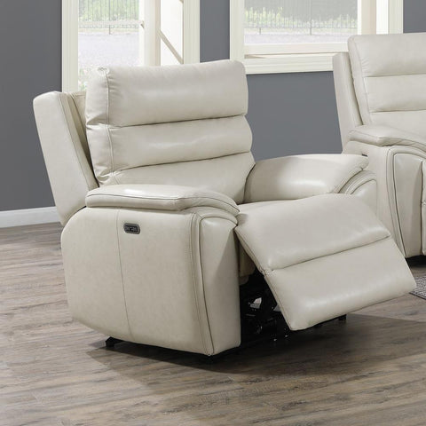 Steve Silver Duval Power Recliner Chair - Ivory