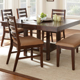 Steve Silver Eden Dining Table w/ 18 Inch Lazy Susan in Dark Cherry