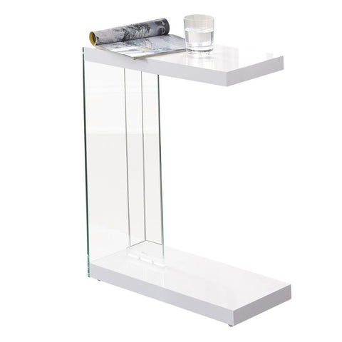 Steve Silver Elaina Chair Side End Table in White