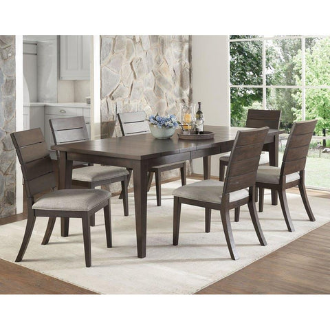Steve Silver Elora 7 Piece Dining Room Set in Dark Oak