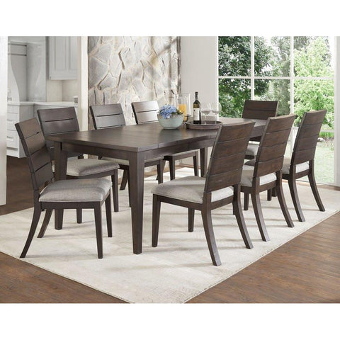 Steve Silver Elora 9 Piece Dining Room Set in Dark Oak