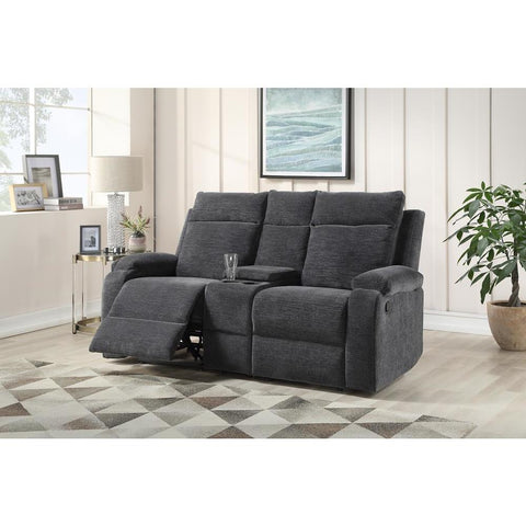 Steve Silver Empire Recliner Loveseat with Console - Navy