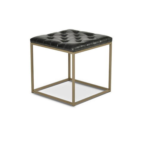 Steve Silver Glenda Upholstered End Table in Metallic Charcoal Gray