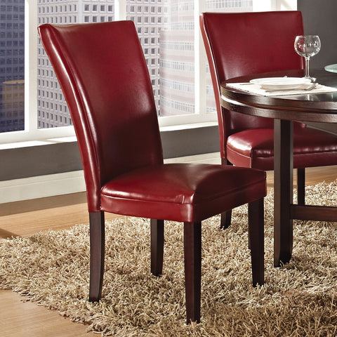 Steve Silver Hartford Parsons Chair in Red