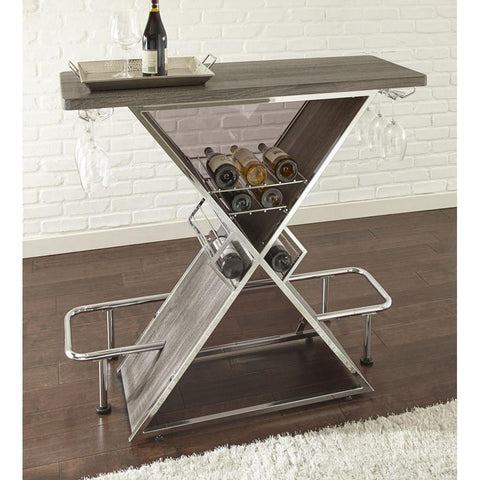 Steve Silver Joanna Bar Table in Grey