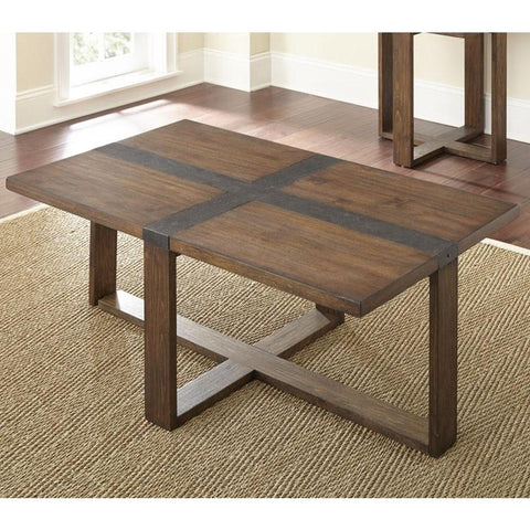 Steve Silver Klarissa Cocktail Table in Distressed Chestnut