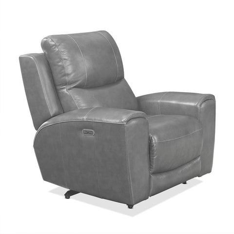 Steve Silver Laurel Power Reclining Console Loveseat In Grey
