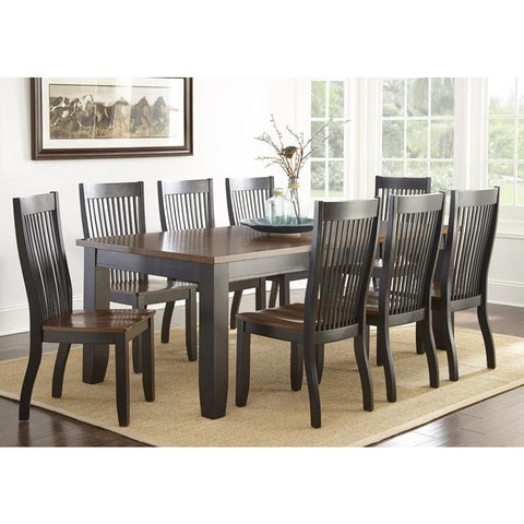 Steve Silver Lawton 9 Piece Rectangular Dining Room Set in Medium Brown