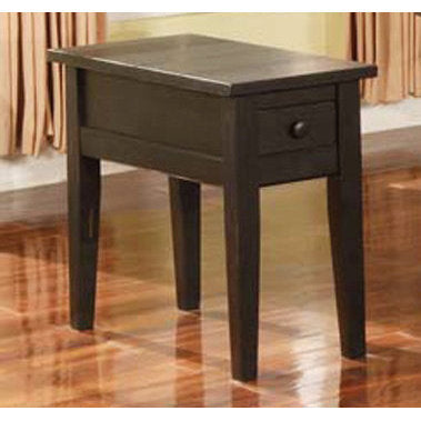 Steve Silver Liberty Chairside End Table inBlack
