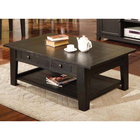 Steve Silver Liberty Cocktail Table in Black