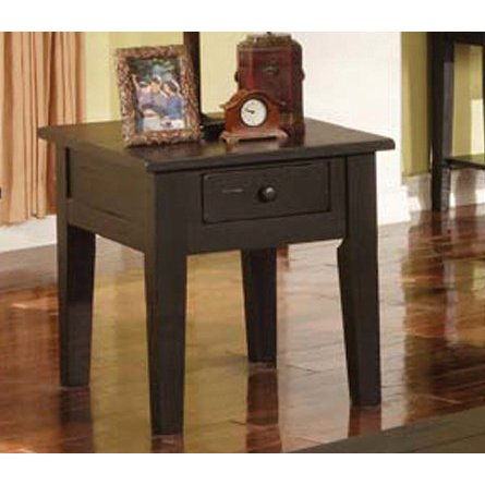 Steve Silver Liberty End Table in Black