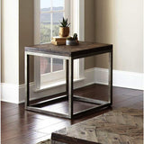 Steve Silver Lorenza End Table in Vintage Nickel