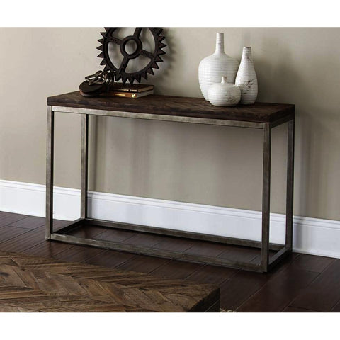 Steve Silver Lorenza Sofa Table in Vintage Nickel
