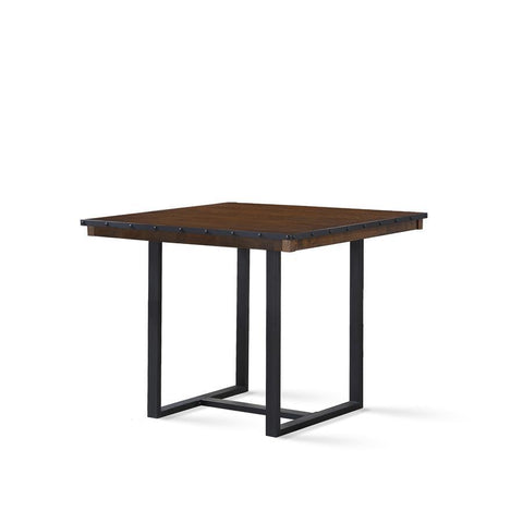 Steve Silver Lori Counter Table in Wire Brushed Chestnut