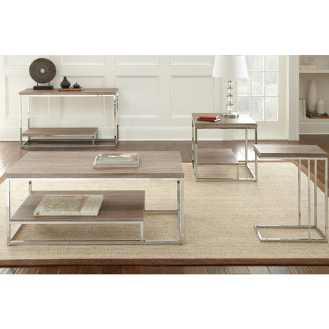 Steve Silver Lucia 4 Piece Coffee Table Set in Brown